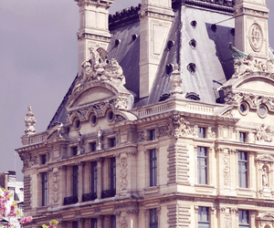 paris, flowers, and architecture image