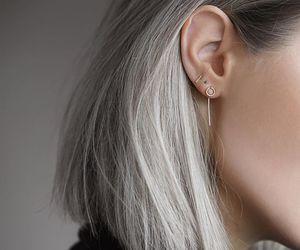 hair, girl, and earrings image