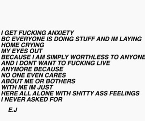 anxiety, sad, and alone image