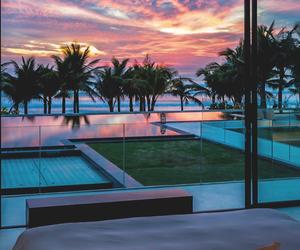 sunset, luxury, and sky image
