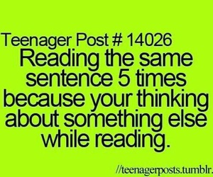 teenager post, reading, and quote image