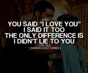 love, quote, and Drake image