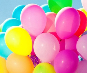 balloon, colorful, and 風船 image