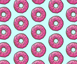 background, wallpaper, and donuts image