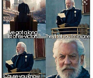 blank space, the hunger games, and president snow image