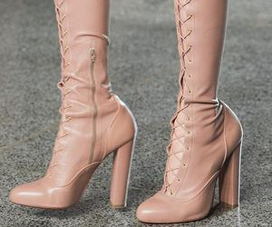 fashion, pink, and thigh high boots image