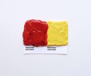 art, mustard, and food image