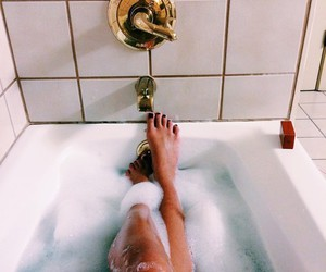 bath, relax, and legs image