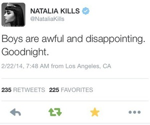 boys, quote, and natalia kills image