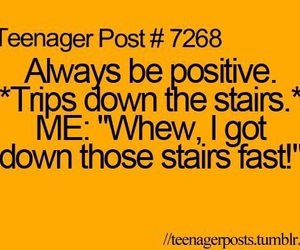 positive, funny, and stairs image