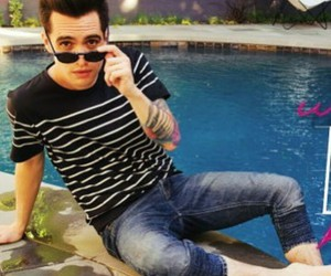 brendon urie, pool, and magazine image