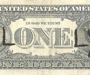 lonely, money, and dollar image