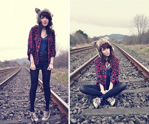 brunette, casual, and fashion image