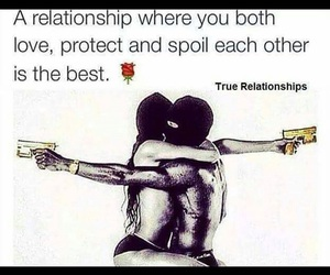love, couple, and protect image