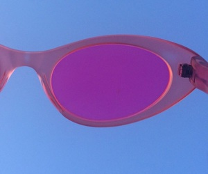 glasses, purple, and sky image