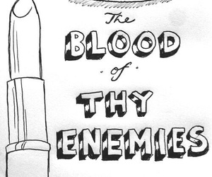 lipstick, enemy, and blood image