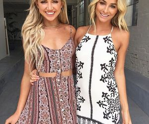 dresses, girls, and hair image