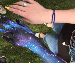 aesthetic, body art, and galaxy image