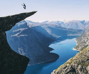 jump, mountains, and nature image
