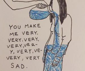 sad, quotes, and blue image