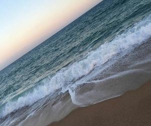 beach, spain, and meer image