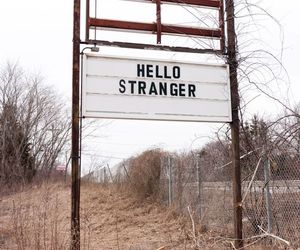stranger, hello, and grunge image