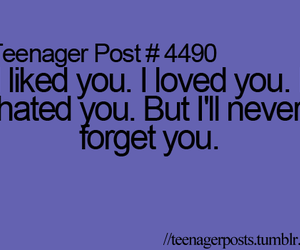 hate, teenager post, and I Love You image