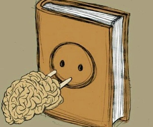 book, brain, and read image