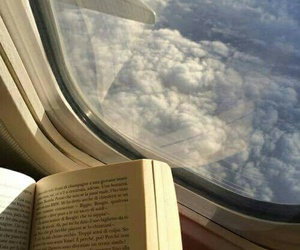 book, clouds, and light image