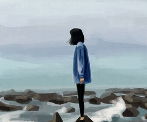 alone, art, and paint image