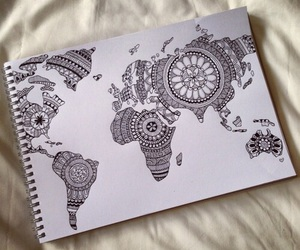 black, map, and travel image