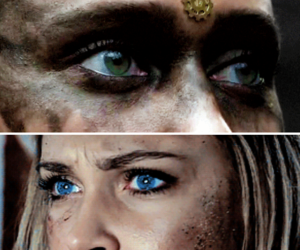blue eyes, eyes, and green eyes image