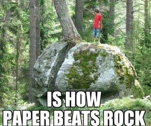 funny, rock, and Paper image