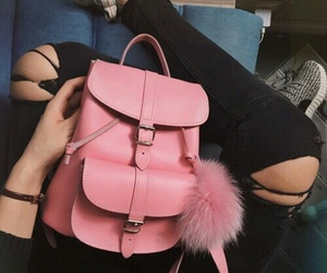 pink, fashion, and backpack image