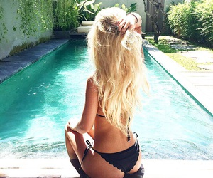 summer, hair, and girl image