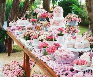 wedding, cake, and pink image