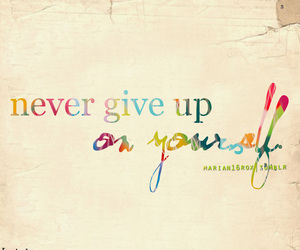 never, quote, and never give up image