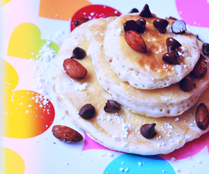 colorful, food, and pancakes image