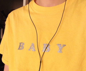 yellow, aesthetic, and baby image