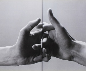 hands, holding hands, and man image