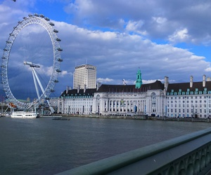london, london eye, and beautiful view image