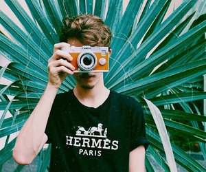 boy, vintage, and camera image