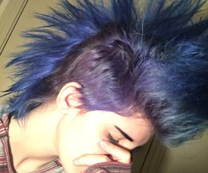 anarchy, blue hair, and emo image