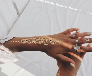 gold, henna, and hippie image