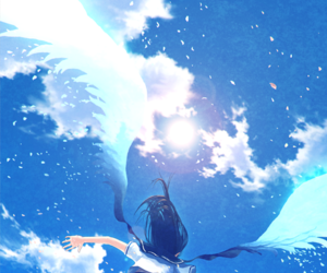 anime, anime girl, and wings image
