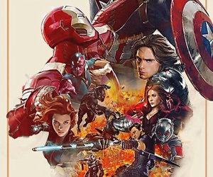 Marvel, civil war, and captain america image