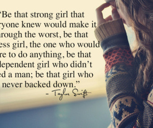 quote, Taylor Swift, and strong image