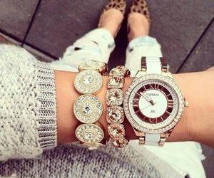 accessories, bracelets, and watch image