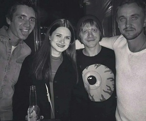 harry potter, tom felton, and bonnie wright image