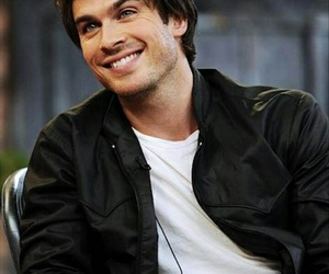 ian somerhalder, damon salvatore, and smile image